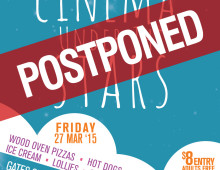 Cinema Under The Stars POSTPONED due to wet weather. New date TBA.