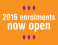2016 enrolments open